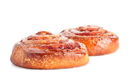 Two sweet buns with cinnamon Stock Photo