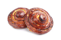 Two sweet buns Royalty Free Stock Photography