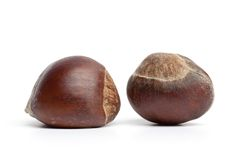 Two Sweet Chestnuts Stock Image
