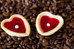 Two sweet hearts Royalty Free Stock Image