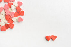 Two Sweet hearts Valentine's card Stock Photography