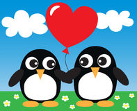Two sweet penguins in love Royalty Free Stock Photo