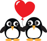 Two sweet penguins in love Stock Photography