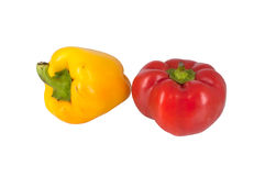Two sweet peppers isolated on white Stock Photography