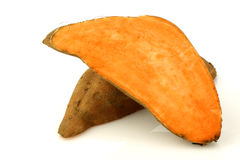 Two sweet potato halves Royalty Free Stock Image