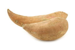 Two sweet potatoes Royalty Free Stock Photography