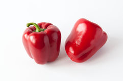 Two sweet red peppers Royalty Free Stock Photography