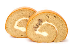 Two sweet rolls with clipping path Royalty Free Stock Photography