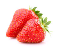Two sweet strawberries Royalty Free Stock Photography