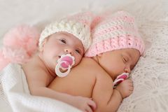 Two sweet twins Stock Image