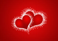 two sweethearts in red background Royalty Free Stock Photo