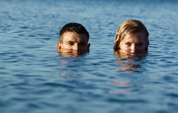 Two swimmers Royalty Free Stock Image