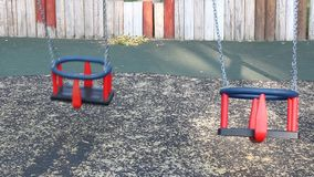 Two swing seats stock footage