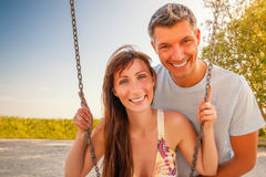 Two swingers Royalty Free Stock Photo