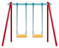 Two swings on blue bar Royalty Free Stock Image