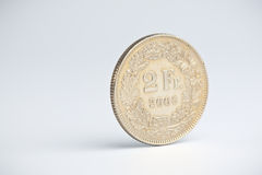 Two Swiss Francs Stock Photo