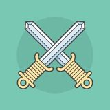 Two swords crossed Stock Image