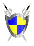 Two swords with shield Stock Photo