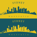 Two Sydney skylines Stock Image