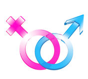 Two symbols - male and female Stock Image