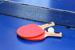 Two Table Tennis Stock Photo