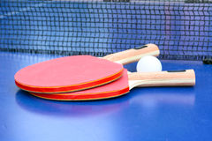 Two table tennis Stock Photo