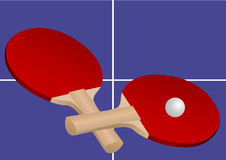 Two table tennis rackets Royalty Free Stock Photo