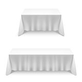 Two tables  with white cloth Royalty Free Stock Image