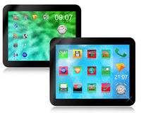 Two tablets Stock Images