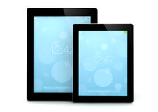 Two tablet Royalty Free Stock Images