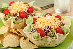 Two Taco Salads Royalty Free Stock Image