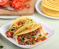 Two Tacos Stock Photography