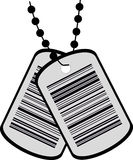 Two tags with a barcode Stock Image