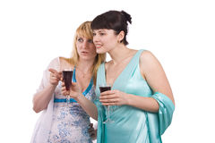 Two talking girls Stock Image
