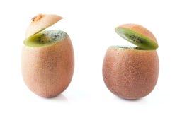 Two Talking Kiwi Fruits Royalty Free Stock Photography