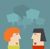 Two talking women. Royalty Free Stock Image