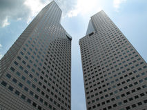 Two tall buildings Stock Photos