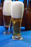 Two tall glass of beer Stock Photography