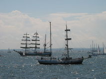 Two Tall ships in Gdynia Royalty Free Stock Photos