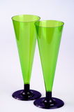 Two tall wine glasses. Two non-permanent tall wine glasses from plasmassy Royalty Free Stock Image
