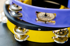 Two tambourines Royalty Free Stock Images