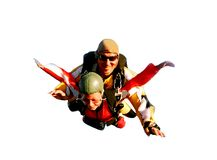 Free Two Tandem Skydivers In Action Royalty Free Stock Image - 6789086