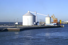 Two tank in the port of Calais (France) Stock Photos