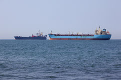 Two tankers Royalty Free Stock Images
