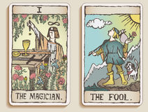 Two Tarot Cards