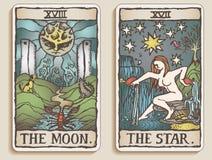Two Tarot Cards v.5 Stock Image