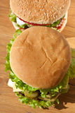 Two tasty cheeseburgers Stock Image