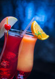 Two tasty cocktails royalty free stock photos