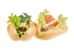 Two tasty and delicious hotdog Royalty Free Stock Images