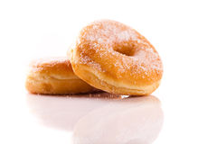 Two tasty doughnuts Royalty Free Stock Image